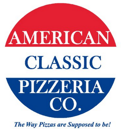 mark for AMERICAN CLASSIC PIZZERIA CO. THE WAY PIZZAS ARE SUPPOSED TO BE!, trademark #78834633