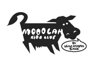 mark for MOOOLAH KIDS CLUB BY MACATAWA BANK, trademark #78835336