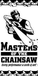 mark for MASTERS OF THE CHAINSAW EVERY PERFORMANCE A WORK OF ART!, trademark #78836888