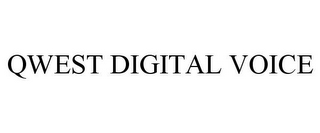 mark for QWEST DIGITAL VOICE, trademark #78845094