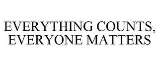 mark for EVERYTHING COUNTS, EVERYONE MATTERS, trademark #78847949