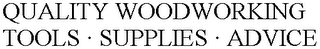 mark for QUALITY WOODWORKING TOOLS · SUPPLIES · ADVICE, trademark #78848022