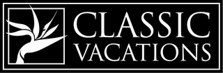 mark for CLASSIC VACATIONS, trademark #78851659