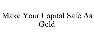 mark for MAKE YOUR CAPITAL SAFE AS GOLD, trademark #78856137