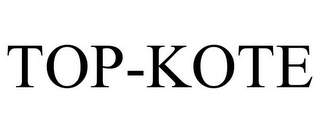 mark for TOP-KOTE, trademark #78856295