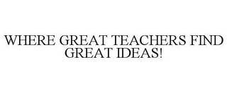 mark for WHERE GREAT TEACHERS FIND GREAT IDEAS!, trademark #78856346