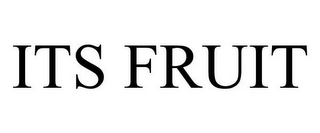 mark for ITS FRUIT, trademark #78857305