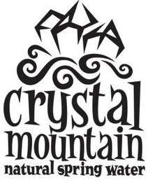 mark for CRYSTAL MOUNTAIN NATURAL SPRING WATER, trademark #78859529
