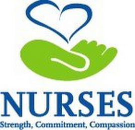 mark for NURSES STRENGTH, COMMITMENT, COMPASSION, trademark #78861048