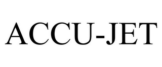 mark for ACCU-JET, trademark #78863501