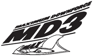 mark for MD3 MAXIMUM DOWNFORCE MAX, trademark #78863716