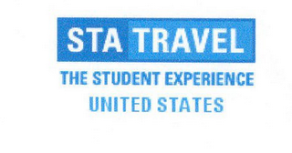 mark for STA TRAVEL THE STUDENT EXPERIENCE UNITED STATES, trademark #78869347