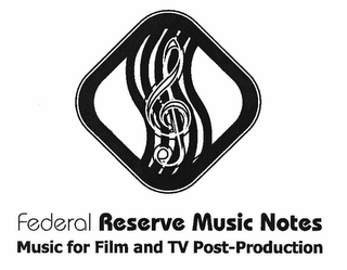 mark for FEDERAL RESERVE MUSIC NOTES MUSIC FOR FILM AND TV POST-PRODUCTION, trademark #78869499