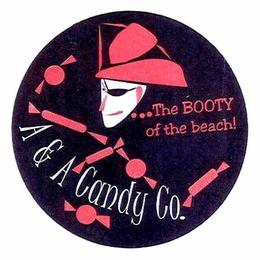 mark for A & A CANDY CO. ...THE BOOTY OF THE BEACH, trademark #78870751