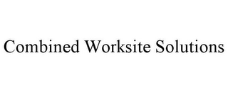 mark for COMBINED WORKSITE SOLUTIONS, trademark #78874246