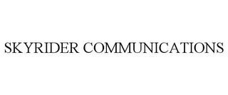 mark for SKYRIDER COMMUNICATIONS, trademark #78877226