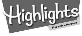 mark for HIGHLIGHTS FUN WITH A PURPOSE, trademark #78881593