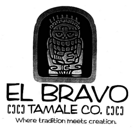 mark for EL BRAVO TAMALE CO. WHERE TRADITION MEETS CREATION., trademark #78884051