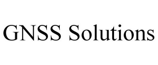 mark for GNSS SOLUTIONS, trademark #78885407