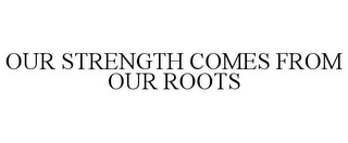 mark for OUR STRENGTH COMES FROM OUR ROOTS, trademark #78887533