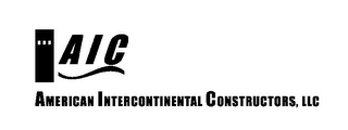 mark for AIC AMERICAN INTERCONTINENTAL CONSTRUCTORS, LLC, trademark #78887710