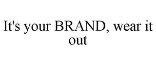 mark for IT'S YOUR BRAND, WEAR IT OUT, trademark #78888928