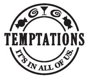 mark for TEMPTATIONS IT'S IN ALL OF US, trademark #78889930