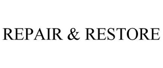 mark for REPAIR & RESTORE, trademark #78891724