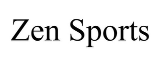 mark for ZEN SPORTS, trademark #78893393