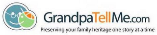 mark for GRANDPATELLME.COM PRESERVING YOUR FAMILY HERITAGE ONE STORY AT A TIME, trademark #78893470