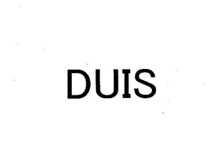 mark for DUIS, trademark #78895726