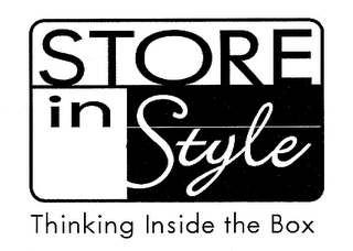 mark for STORE IN STYLE THINKNG INSIDE THE BOX, trademark #78903036