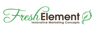 mark for FRESH ELEMENT INNOVATIVE MARKETING CONCEPTS, trademark #78906424