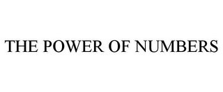 mark for THE POWER OF NUMBERS, trademark #78912510