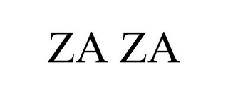 mark for ZA ZA, trademark #78914092