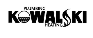 mark for KOWALSKI PLUMBING HEATING, trademark #78914193