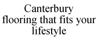 mark for CANTERBURY FLOORING THAT FITS YOUR LIFESTYLE, trademark #78916240