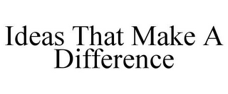 mark for IDEAS THAT MAKE A DIFFERENCE, trademark #78916950
