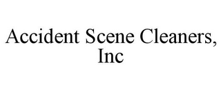 mark for ACCIDENT SCENE CLEANERS, INC, trademark #78918331