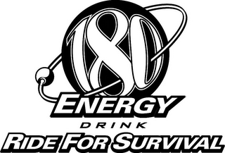 mark for 180 ENERGY DRINK RIDE FOR SURVIVAL, trademark #78918951