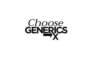 mark for CHOOSE GENERICS RX, trademark #78919454