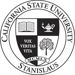 mark for CALIFORNIA STATE UNIVERSITY STANISLAUS VOX VERITAS VITA MCMLX, trademark #78920256