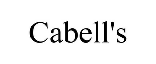 mark for CABELL'S, trademark #78925153