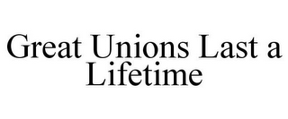 mark for GREAT UNIONS LAST A LIFETIME, trademark #78927266