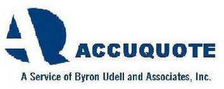 mark for AQ ACCUQUOTE A SERVICE OF BYRON UDELL AND ASSOCIATES, INC., trademark #78929757