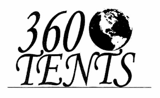 mark for 360 TENTS, trademark #78930067