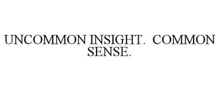 mark for UNCOMMON INSIGHT. COMMON SENSE., trademark #78931638