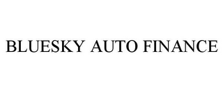 mark for BLUESKY AUTO FINANCE, trademark #78933296