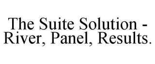 mark for THE SUITE SOLUTION - RIVER, PANEL, RESULTS., trademark #78933476