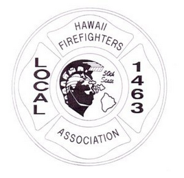mark for HAWAII FIREFIGHTERS ASSOCIATION LOCAL 1463 50TH STATE, trademark #78933650